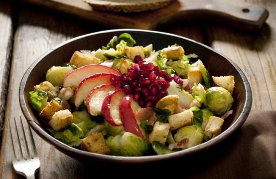 салат с брюссельской капустой