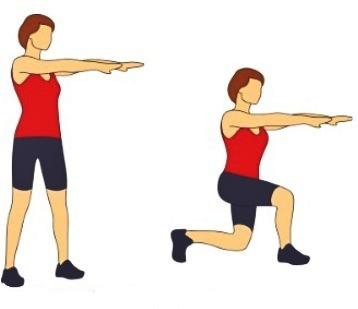 эффективные упражнения выпады
