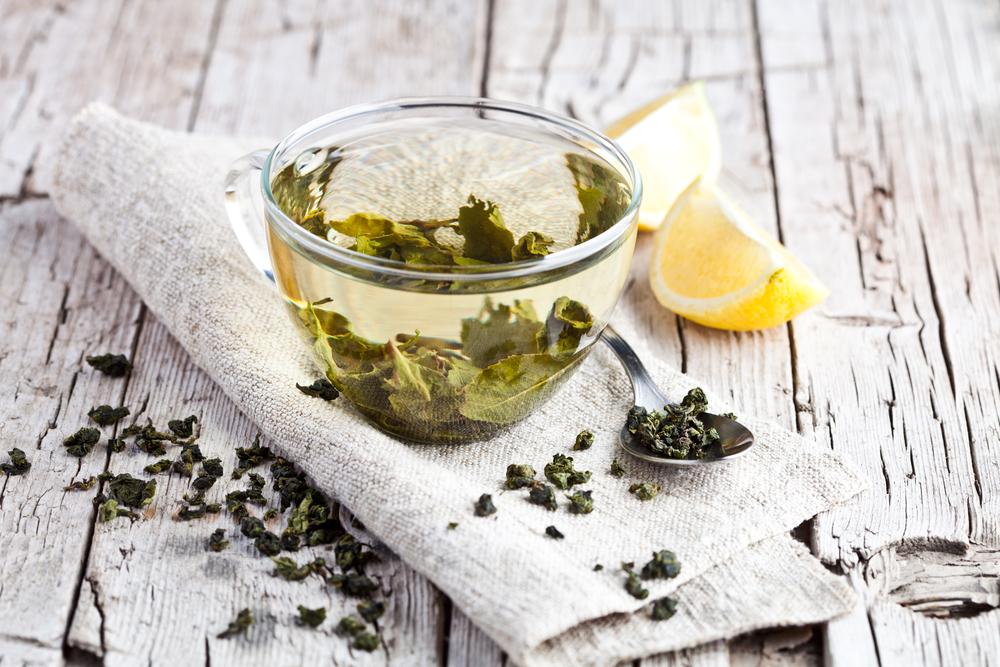 зеленый чай и лимон