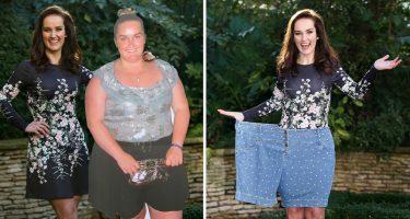 Девушка сбросила половину своего веса за год