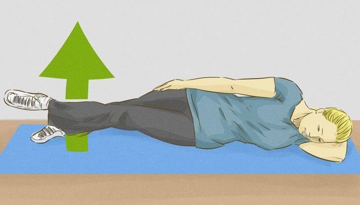 подъем бедер лежа на боку