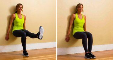 Польза упражнения «Стульчик у стены»