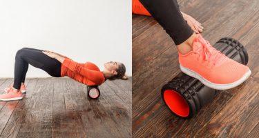 Упражнения с массажным роликом