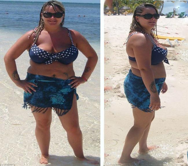 полная девушка похудела