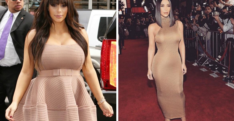 кардашьян до и после похудения